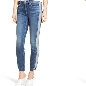 7 For All Mankind Ankle Skinny Side Panel Jeans